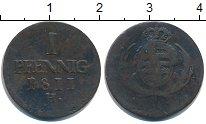 Изображение Монеты Саксония 1 пфенниг 1811 Медь VF