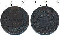 Изображение Монеты Сан-Марино 5 сентесим 1864 Медь XF