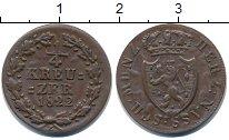 Изображение Монеты Нассау 1/4 крейцера 1822 Медь XF