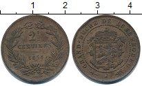 Изображение Монеты Люксембург 2 1/2 сентима 1854 Медь XF