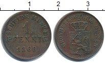 Изображение Монеты Гессен 1 пфенниг 1869 Медь XF