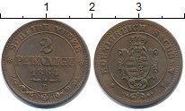 Изображение Монеты Саксония 2 пфеннига 1864 Медь UNC-