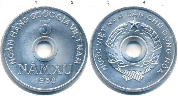 Картинка Монеты Вьетнам 5 ксу Алюминий 1958