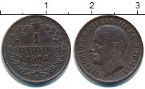 Изображение Монеты Италия 1 сентесимо 1908 Медь XF