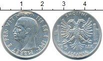 Изображение Монеты Албания 5 лек 1939 Серебро XF