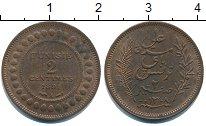 Изображение Монеты Тунис 2 сантима 1891 Медь UNC-