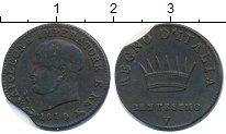 Изображение Монеты Италия 1 сентесимо 1810 Медь