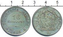 Изображение Монеты Италия 16 байоччи 1849 Серебро XF