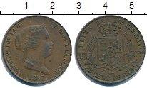 Изображение Монеты Испания 25 сентимо 1857 Медь XF