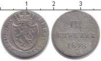 Изображение Монеты Нассау 3 крейцера 1818 Серебро VF
