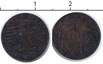 Изображение Монеты Франкфурт 1 крейцер 1855 Медь VF
