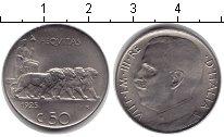 Изображение Монеты Италия 50 сентесим 1925  XF Виктор Эммануил III