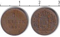 Изображение Монеты Бавария 1 геллер 1853 Медь VF
