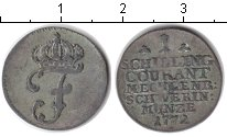 Изображение Монеты Мекленбург-Шверин 1 шиллинг 1772 Серебро VF