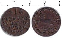 Изображение Монеты Брауншвайг-Вольфенбюттель 1 пфенниг 1802 Медь VF