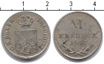 Изображение Монеты Баден 6 крейцеров 1812 Серебро VF