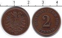 Изображение Монеты Германия 2 пфеннига 1876 Медь XF