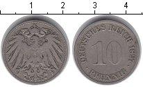 Изображение Монеты Германия 10 пфеннигов 1897 Медно-никель XF