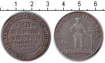 Изображение Монеты Брауншвайг-Вольфенбюттель 12 марьенгрош 1766 Серебро VF