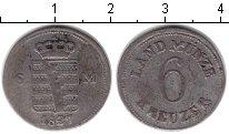 Изображение Монеты Саксен-Майнинген 6 крейцеров 1827 Серебро VF