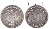Изображение Монеты Германия 20 пфеннигов 1876 Серебро XF F