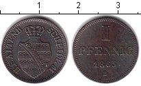 Изображение Монеты Саксе-Альтенбург 1 пфенниг 1865 Медь XF