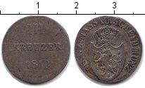 Изображение Монеты Нассау 3 крейцера 1810 Серебро VF