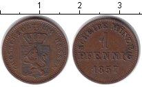Изображение Монеты Гессен 1 пфенниг 1857 Медь XF