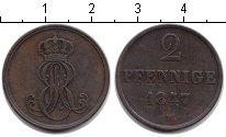 Изображение Монеты Ганновер 2 пфеннига 1847 Медь XF