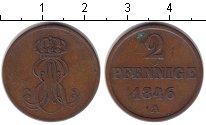 Изображение Монеты Ганновер 2 пфеннига 1846 Медь XF