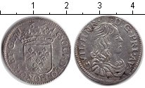 Изображение Монеты Италия 1 луиджино 1661 Серебро