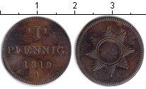 Изображение Монеты Франкфурт 1 пфенинг 1819 Медь XF