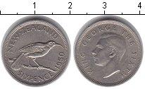 Изображение Монеты Новая Зеландия 6 пенсов 1950 Медно-никель XF