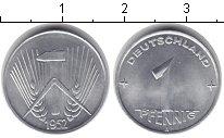 Изображение Монеты ГДР 1 пфенниг 1952 Алюминий UNC- Первый герб ГДР. Гер