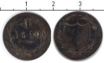 Изображение Монеты Франкфурт 1 геллер 1819 Медь VF