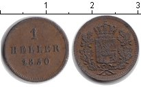Изображение Монеты Бавария 1 хеллер 1850 Медь XF
