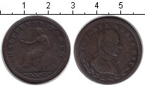 Изображение Монеты Великобритания 1/2 пенни 1812 Медно-никель VF