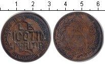 Изображение Монеты Италия 10 сентесим 1866 Медь  Надчекан.