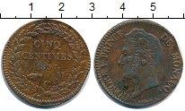 Изображение Монеты Монако 5 сантим 1837 Медь VF