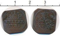 Изображение Монеты Саксония 1 геллер 1781 Медь VF