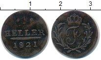 Изображение Монеты Саксония 1 хеллер 0 Медь
