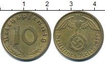 Изображение Монеты Третий Рейх 10 пфеннигов 1937 Медно-никель XF Третий рейх. Орел со