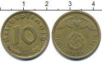 Изображение Монеты Третий Рейх 10 пфеннигов 1939 Медь XF Третий рейх. Орел со