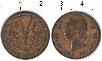 Изображение Монеты Французская Африка 10 франков 1956  VF Антилопа