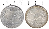 Изображение Монеты ФРГ 10 марок 1972 Серебро XF Олимпиада в Мюнхене
