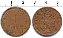 Изображение Монеты Мозамбик 1 эскудо 1974 Медь XF