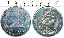 Изображение Монеты Остров Святой Елены 25 пенсов 1973 Серебро UNC- Корабль.