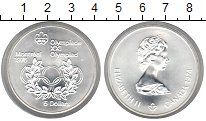 Изображение Мелочь Канада 5 долларов 1976 Серебро UNC
