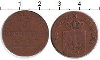 Изображение Монеты Пруссия 3 пфеннига 1837 Медь VF А