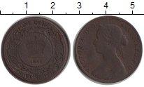 Изображение Монеты Новая Скотия 1 цент 1861 Медь VF Виктория